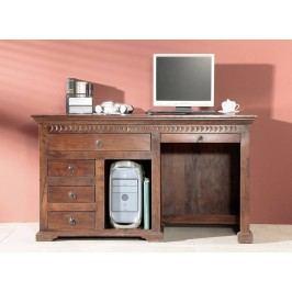 Koloniální psací stůl, masivní akátový nábytek CAMBRIDGE #511