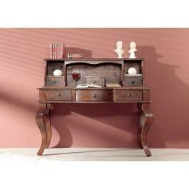 Koloniální psací stůl, masívní akátový nábytek CAMBRIDGE #514