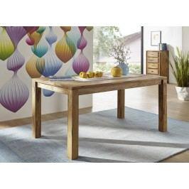 Sheesham jídelní stůl l 160x90, masivní palisandrové dřevo LIGHT WOOD #814