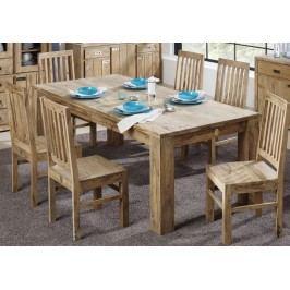 Sheesham jídelní stůl  220x100, masívne palisandrové drevo LIGHT WOOD #827