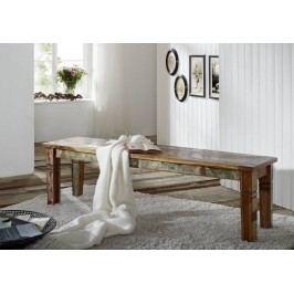 OLDTIME lavica - 140cm lakované staré indické dřevo