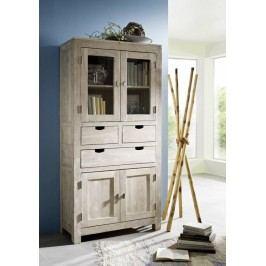 WHITE WOOD skříň malované akátový nábytek