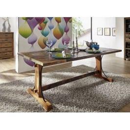 OLDTIME jídelní stůl - 240x100cm lakované staré indické dřevo
