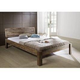 Masivní indický palisandr, postel 160x200 GREY WOOD #191