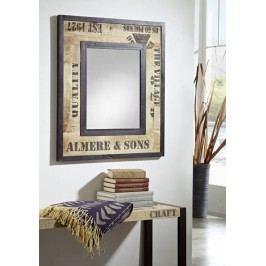FABRICA zrcadlo #112, litina a mangové dřevo, potisk