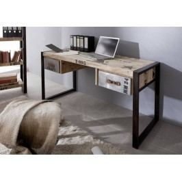 FABRICA psací stůl #124, litina a mangové dřevo, potisk