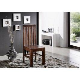 MUMBAJ Designer židle, vysoké opěradlo nugátová
