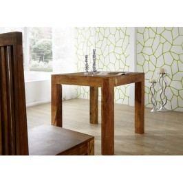 MUMBAJ jídelní stůl akát, medová  80x80cm