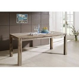 Masivní indický palisandr, jídelní stůl 120x90 GREY WOOD #502