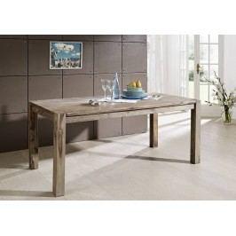 Masivní indický palisandr, jídelní stůl 180x90 GREY WOOD #505