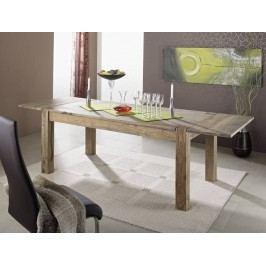 Sheesham jídelní stůl 160x90, s rozšířujícími deskami GREY WOOD #304