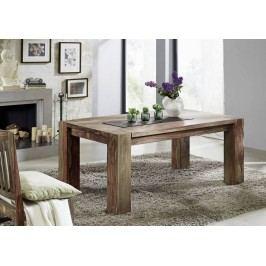 Sheesham jídelní stůl 200x100, masivní palisandrové dřevo MAMMUT GREY WOOD #606