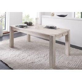 WHITE WOOD 90x140 cm jídelní stůl malovaný akátový nábytek
