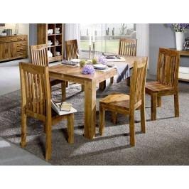 KOLINS jídelní stůl akát, medová 120x120 cm