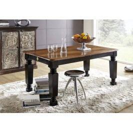 KOLONIAL jídelní stůl 140/180x90cm lakovaný palisandr