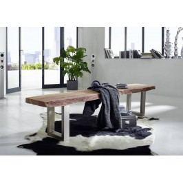 METALL lavice 155x38 akátový nábytek