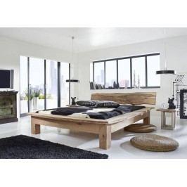 METALL postel 200x200cm akátový nábytek