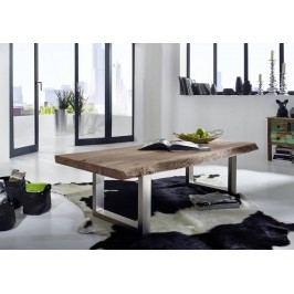 METALL konferenční stolek akátový nábytek