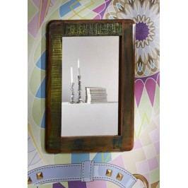TESORI zrcadlo #42, litina a staré dřevo