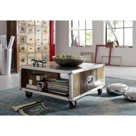 INDUSTRY konferenční stolek/Container #101, litina a staré dřevo