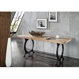 INDUSTRY jídelní stůl 200x100 #28, litina a staré dřevo