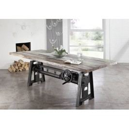 INDUSTRY jídelní stůl 220x100 #24, litina a staré dřevo