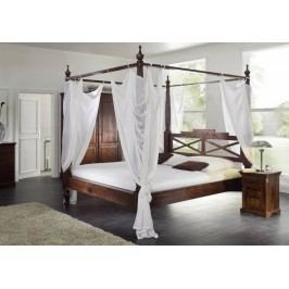 Koloniální postel 140x200 masivní akátový nábytek CAMBRIDGE #244