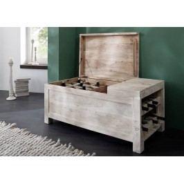 WHITE WOOD truhlice na víno malovaný akátový nábytek