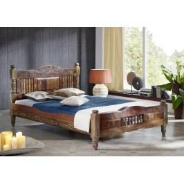 COLORES postel - 200x200cm lakované staré indické dřevo