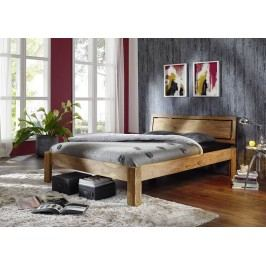 Sheesham postel 180x200 , masivní palisandrové dřevo LIGHT WOOD #522