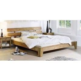 Sheesham postel 140x200, masivní palisandrové dřevo LIGHT WOOD #510