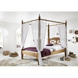 Sheesham postel 180x200, masivní palisandrové dřevo LIGHT WOOD #532