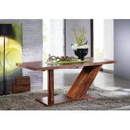 Sheesham stůl 220x100, masivní palisandr BARON #134