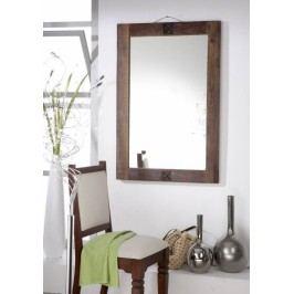 OLDTIME zrcadlo - 100x88cm lakované staré indické dřevo