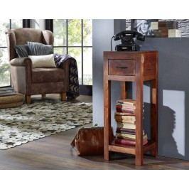 MUMBAJ Telefonní stolek, akát, nugatová, 30x30 cm