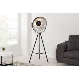 Stojací lampa STODY 160 cm - černá, stříbrná