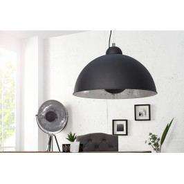 Visící lampa STADO - černá, stříbrná