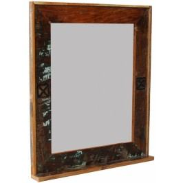 OLDTIME BAD Zrcadlo # 104 indické staré dřevo, lakované