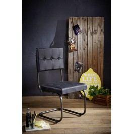 DARKNESS Židle, pravá kůže - černá