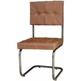 DARKNESS Židle, pravá kůže tmavě hnědá