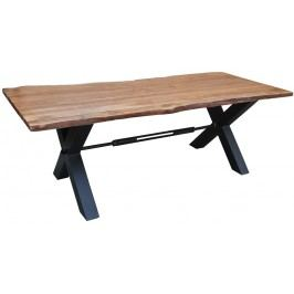 DARKNESS Jídelní stůl 260x100cm X-nohy – černá