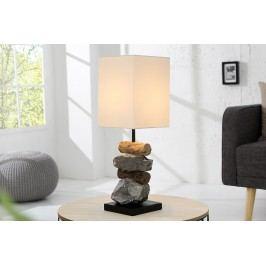 Lampa ELOMENTS – bílá, přírodní