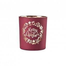 DELIGHT Svícen na čajovou svíčku X-MAS 10 cm - červená