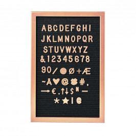 MESSAGE BOARD Deska 45 x 30 cm - růžová zlatá