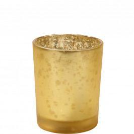 DELIGHT Svícen na čajovou svíčku 9,5 cm - zlatá