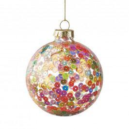 HANG ON Ozdoba vánoční koule třpytivá 8 cm - mix