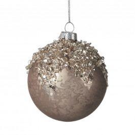 HANG ON Vánoční koule 8 cm - hnědá