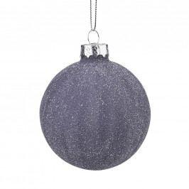 HANG ON Vánoční koule 8 cm - tm. modrá