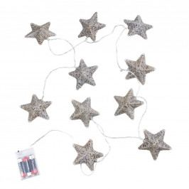IN THE SKY Světelný řetěz hvězdy 10 světel - stříbrná