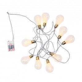 BULB LIGHTS Světelný řetěz žárovky 10 světel - bílá/černá